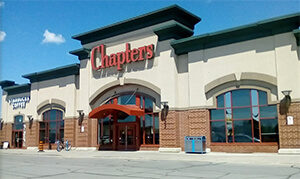 front of chapters books store at the Quinte Mall